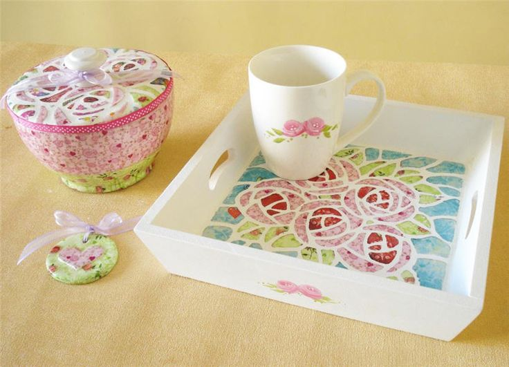 Papel Mache - Decoupage  http://www.manosalaobra.tv/Detalle-de-articulos/ArticleId/1006/Desayuno-country.aspx