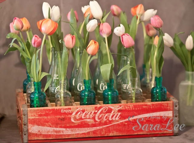 Sweet Little Gals: Vintage Crate Centerpiece {with Tulips}