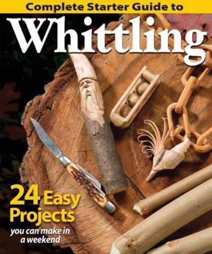 Complete Starter Guide to Whittling: 24 Easy Projects You Can Make in a Weekend (Best of Woodcarving) by Editors of Woodcarving Illustrated http://www.amazon.com/dp/1565238427/ref=cm_sw_r_pi_dp_DrfWtb0332KH1AZH