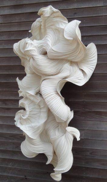 """Rippling Contours & Beautiful Textures """"Waterdrager"""" paper sculpture //Peter Gentenaar"""