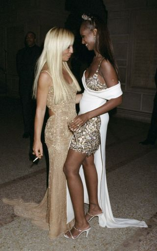 22 glamorous throwback photos from the Met Gala over the years: Donatella Versace and Iman