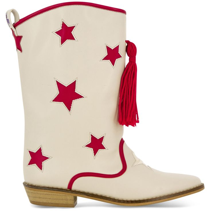 Stella McCartney Kids Bottes de cow-boy Beige - 109456 | Melijoe.com