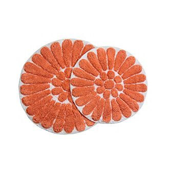 Chesapeake Bursting Flower 2-pc. Bath Rug Set | 60% false
