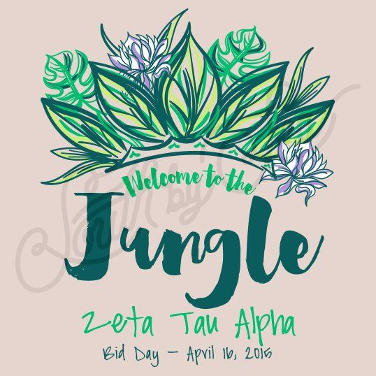 Sorority Recruitment Zeta Tau Alpha Jungle Leaves South By Sea