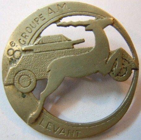 8 ° Auto Group in 1939 GAM machine guns RISING Lebanon authentic WW2 1940