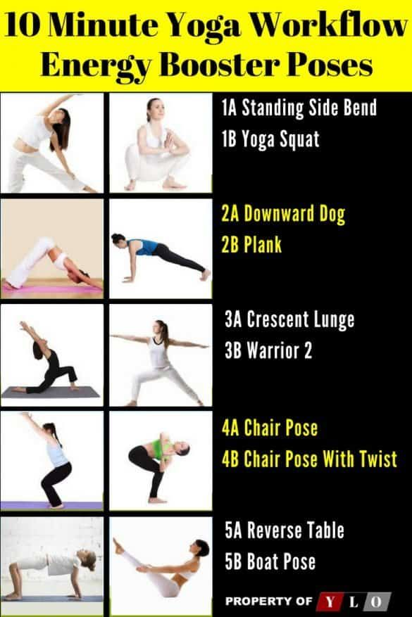 10 Minute Yoga Workflow Energy Booster 4 Energy Yoga Energy Boosters How To Increase Energy