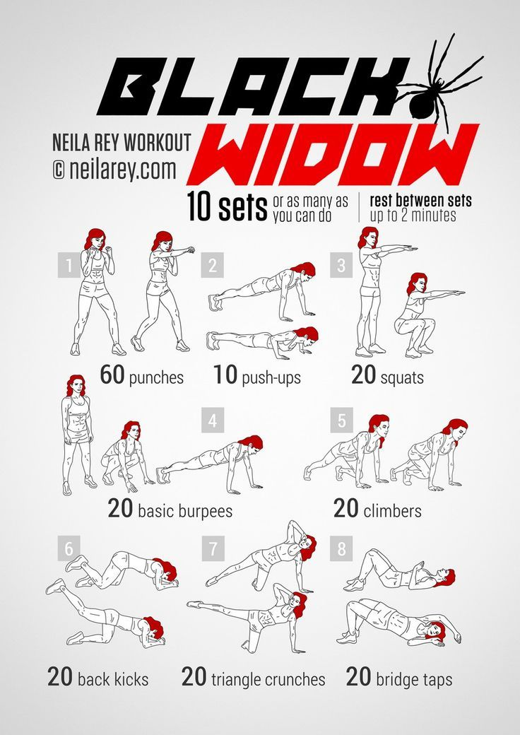 Black Widow Workout - Every themed workout on this website is awesome.