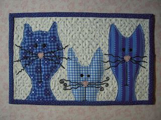 sports direct kitty cat quilted mug rug by lekaquilt