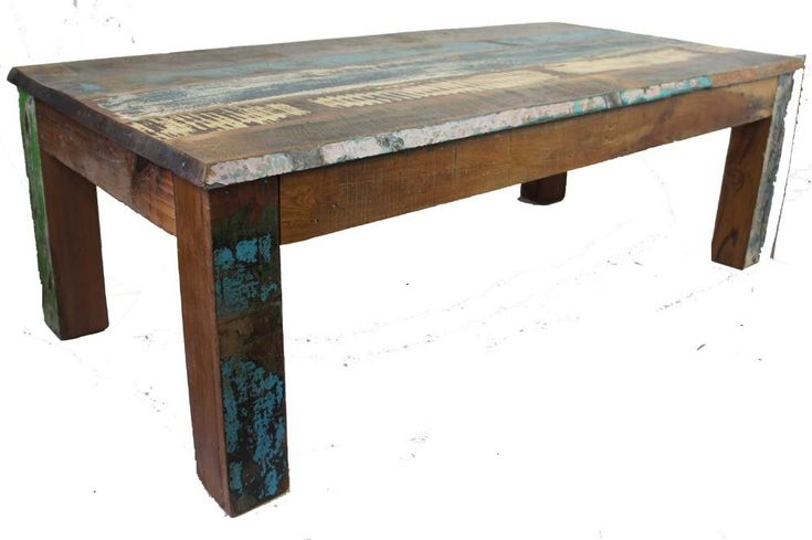 Sanjay Old Painted Teak Coffee Table