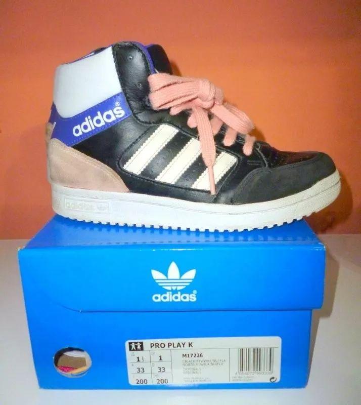 adidas pro play niños kids nº 33 botitas zapatillas     $479,90.-
