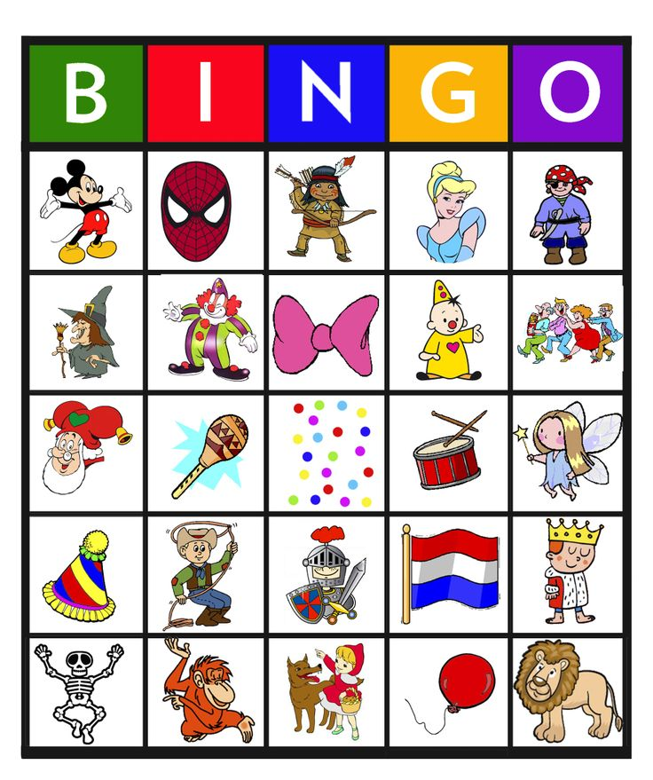* Bingo: carnaval 10-25