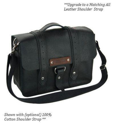 15 Black Sierra Voyager Laptop Bag  by CopperRiverBags on Etsy