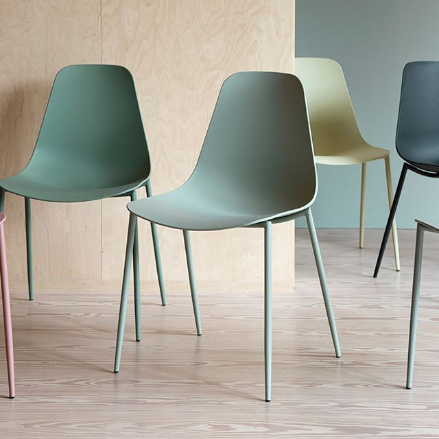 In stores now // The chair's elegant frame was painted using a surface technique that gives the frame and seat a tone-on-tone appearance. Chair, available in six colours, price per item DKK 298,00 / EUR 39,98 / ISK 7110 / NOK 419,00 / GBP 38,80 / SEK 419,00 / JPY 4660  #chair #furniture #interiors #homedecorating #decor #sostrenegrene #søstrenegrene #grenehome