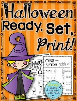 Halloween Music Worksheets {Ready Set Print!} #kodaly #musicedchat #13nights