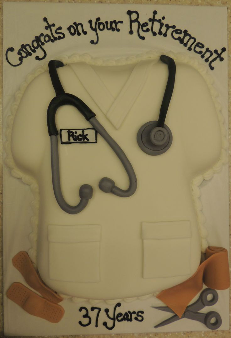 Nurse Retirement Cake