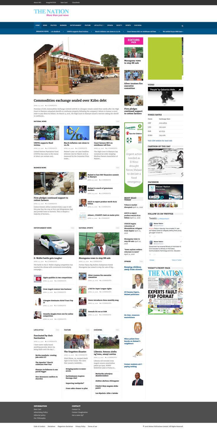 The Nation newspaper Website