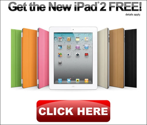 Get a FREE new iPad in the color of your choice!