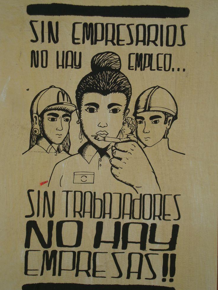 Sin trabajadores no hay empresas. Santiago de Chile, Romería al Cementerio General, 8 de sept. de 2013. A 40 años del golpe.