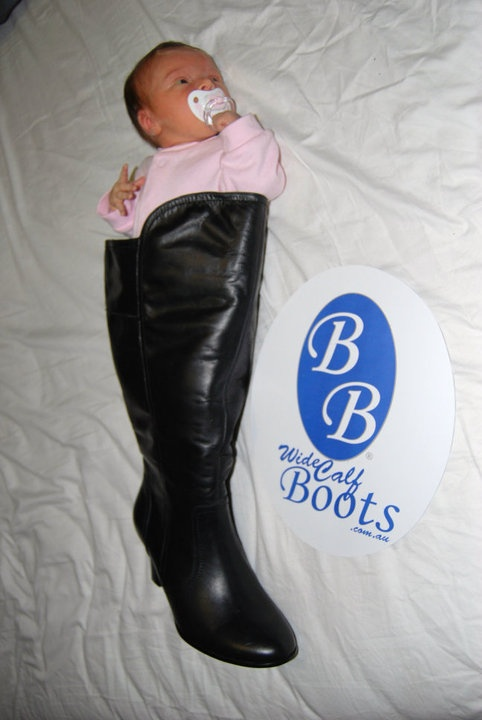 Our littlest fan has found a new use for our boots