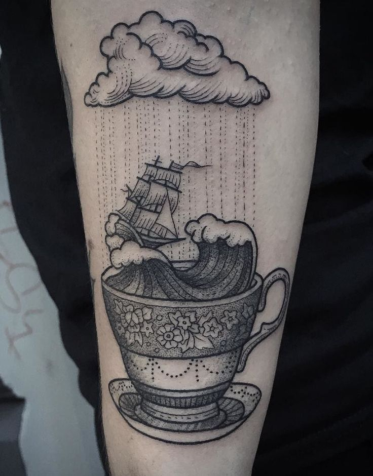 Storm in a tea cup tattoo                                                                                                                                                                                 More