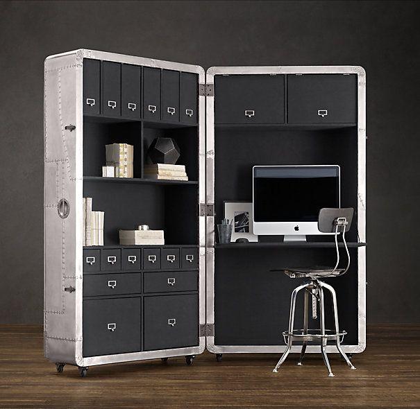 Blackhawk secretary trunk. $3650.00  Wow this is awesome.  Rrrr....so MALE - I like!