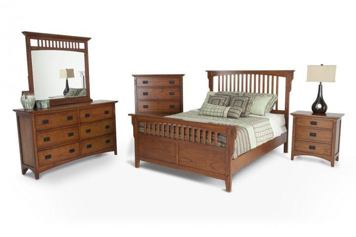 Mission Oak 8 Piece Queen Bedroom Set