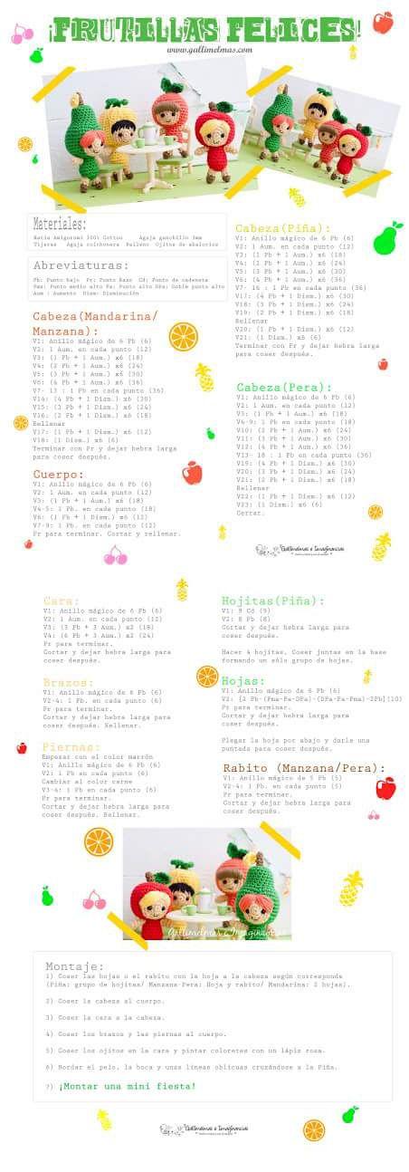 Fruit dolls crochet