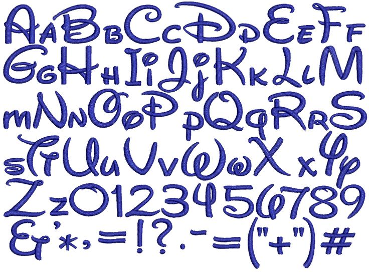 alphabet styles lettering   Mollygram offers many different embroidery fonts on your custom made ...