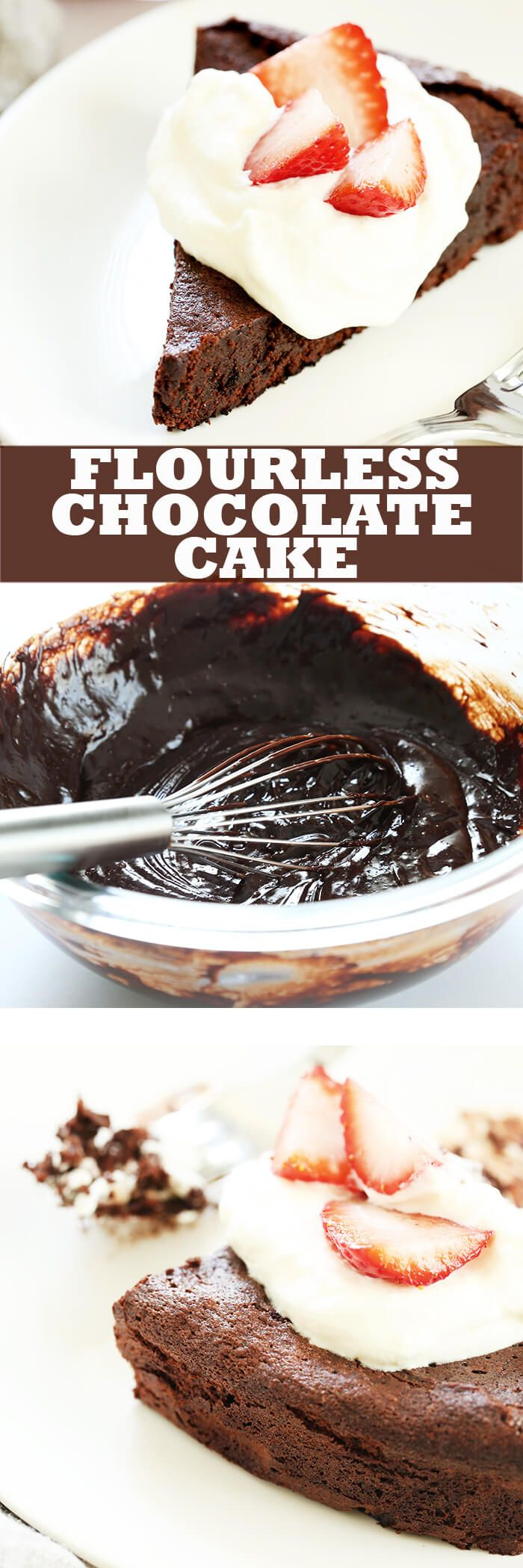 A flourless chocolate cake is one of those restaurant-style desserts that it's tempting to think is too fussy to make at home. It's naturally gluten free, and you can whip one up at home any time!
