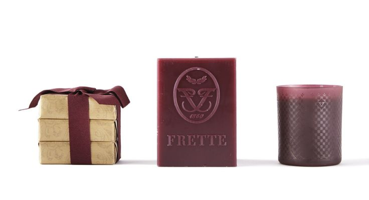Frette's candles, room sprays and soaps mix fresh, natural notes in uniquely evocative blends. Perfumed room sprays and candles recall salty sea breezes, the musky aura of Italian woodlands, sweet-smelling floral gardens, or the tangy aroma of freshly-picked fruit. Packaging is equally evocative: burgundy frosted glass and boxes; gold-wrapped soaps. A fragrant home is a place of welcome. A scented pillow brings sweet dreams. http://www.frette.com/home-decor/candles-fragrances