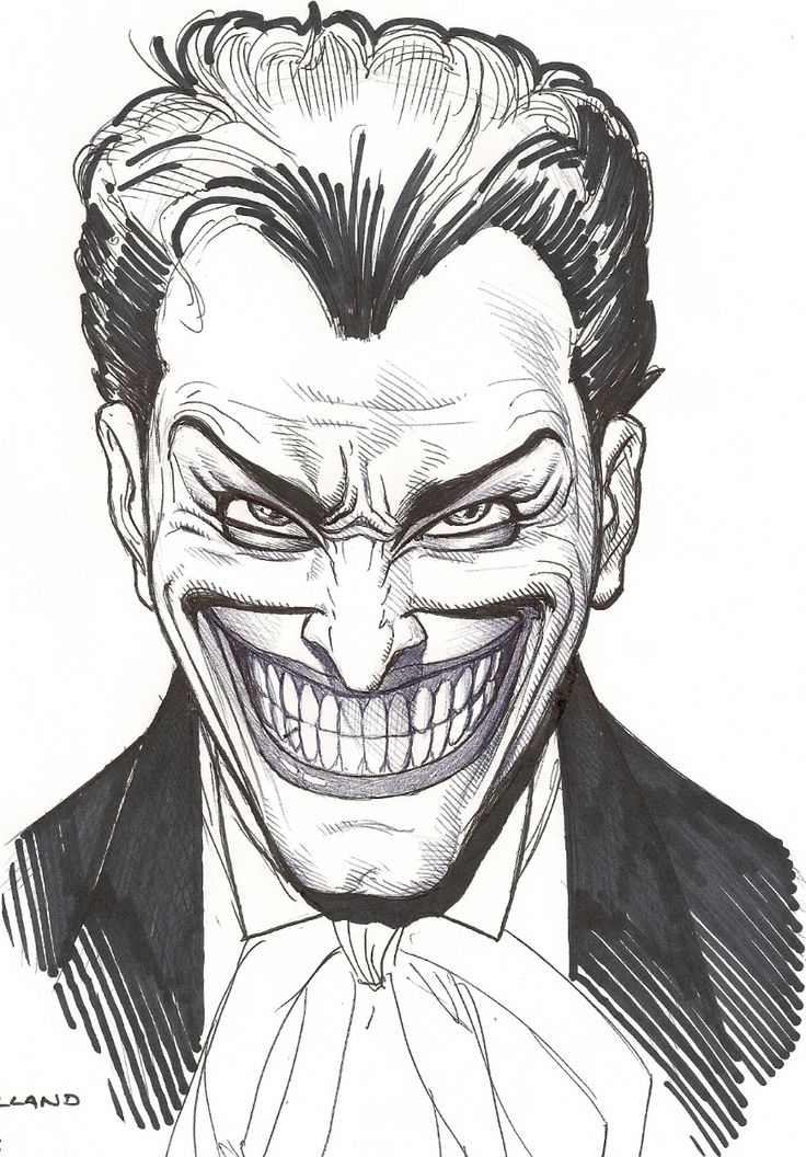 Image detail for -... Joker Face, in Rich Cirillo's Brian Bolland Comic Art Gallery Room