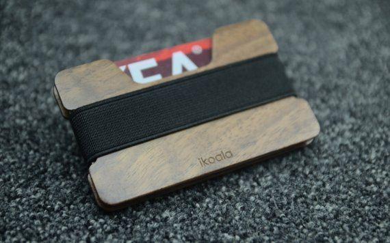 Blackwalnut Credit Card Wallet , Minimalist Wallet, Wood Wallet,Credit Card Hold…