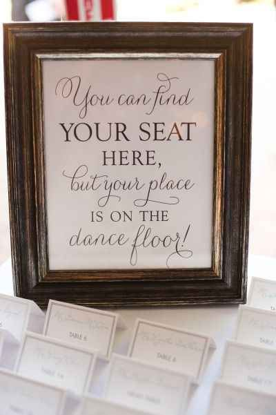 Encourage your shy guests to dance, if you think they'll need a little goading. | 40 Awesome Signs You'll Want At Your Wedding
