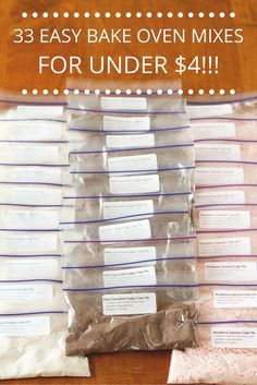 Tara from Unsophisticook shows you how to make 33 Easy Bake Oven Mixes for under $4! Confession time: I always wanted one of these ovens growing up! Anyone else?