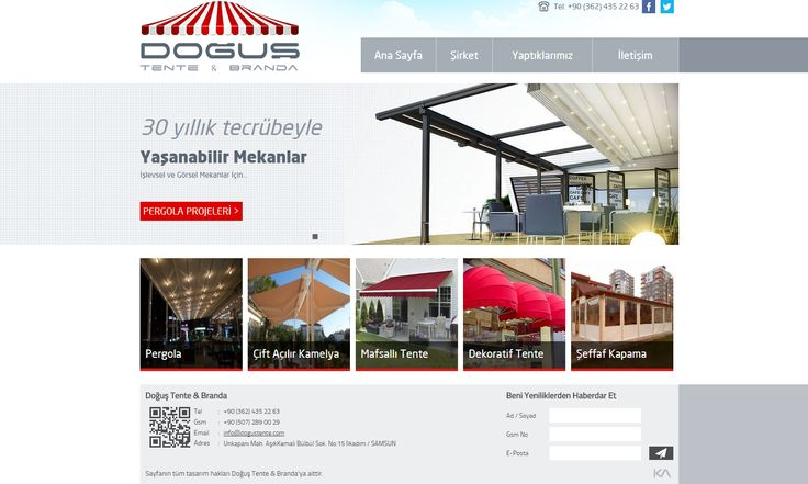 Doğuş Tente & Branda   Web Design