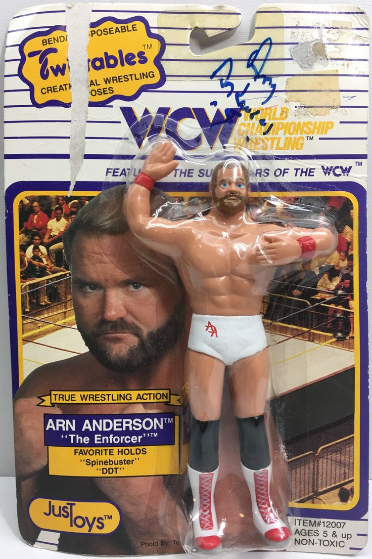 (TAS033175) - 1990 Just Toys WCW Wrestling Twistables Figure - Arn Anderson
