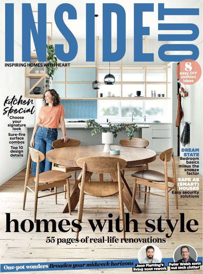 The cover of the March 2018 issue of Inside Out. Available from newsagents, Zinio, https://au.zinio.com/magazine/Inside-Out-/pr-500646627/cat-cat1680012#/  and Nook.