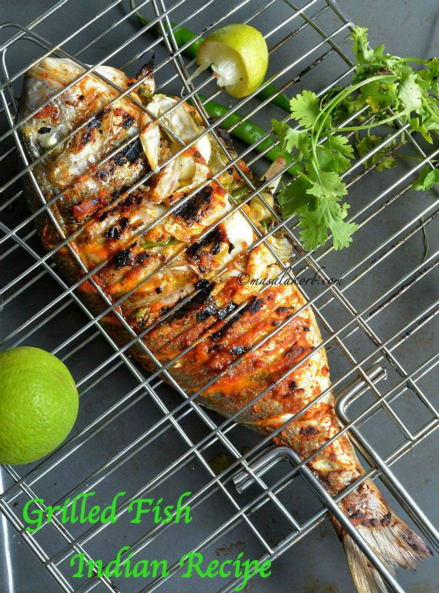 Grilled Fish Indian Recipe has all the Indian flavours & spices that penetrate deep into the fish making it juicy & succulent from inside & charred outside.
