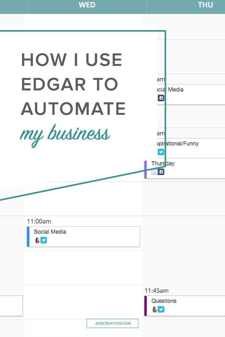 How I use Edgar to automate my social media