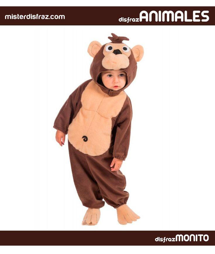Disfraz de Monito Blas Bebé. Un disfraz para convertir a los Bebes en el compañero inseparable de la gran serie de Marcos que nos acompañó en nuestra infancia o convertirlos en uno de los primates más simpáticos que existen.  #disfrazdeanimal #disfrazesdeanimales #disfraz #animal #disfrazbebe #bebe #monitoblas #monito #blas