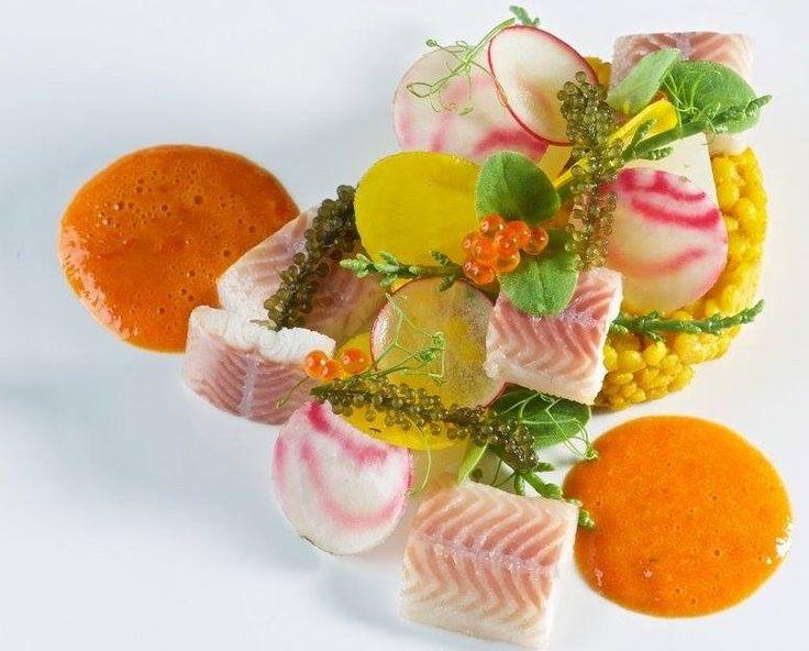 Combinatie van gerookte paling   zalm   Hollandse garnalen. Prachtig gerecht van Restaurant de Mandemaaker te Spakenburg. http://www.demandemaaker.nl/menu/