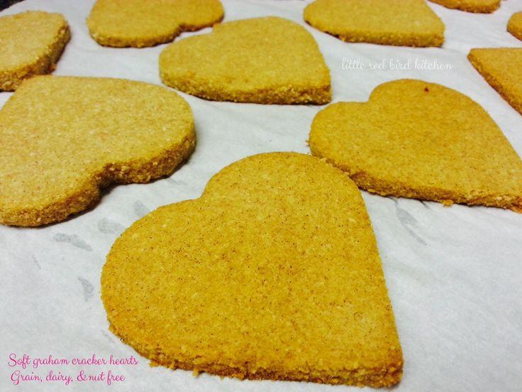 Soft Graham Cracker Hearts ( Grain/Dairy/Nut free)