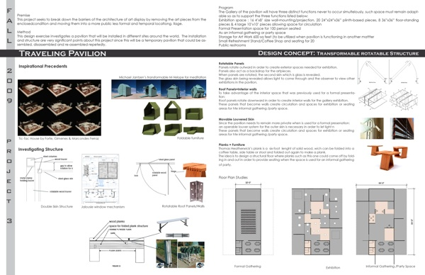Transformable Traveling Pavilion by Mirna Andrade, via Behance
