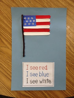 Bridgett  Learning about the American Flag and using the sight work see as students can also practice their colors.