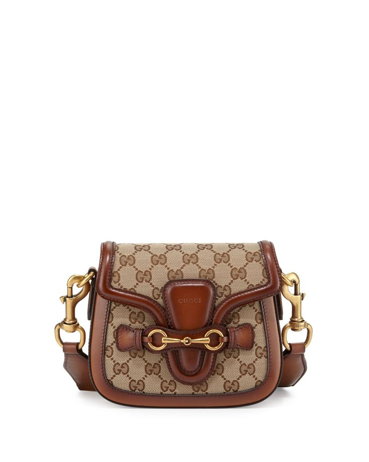 gucci lady web small gg canvas shoulder bag brown womens brownred