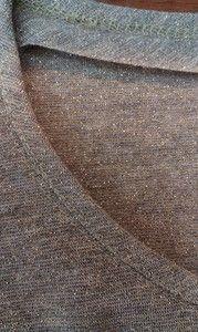 Обработка трикотажной горловины косой бейкой мк