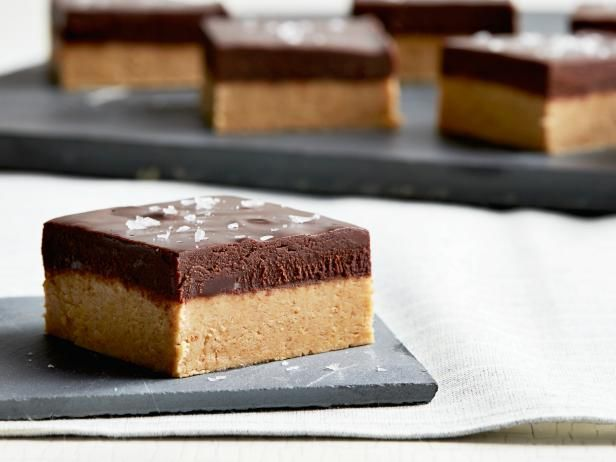 Easy No-bake Recipe: Peanut Butter Bars with Salted Chocolate Ganache Recipe from Food Network