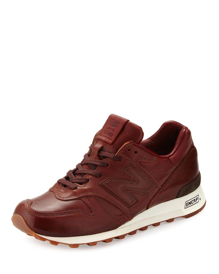1300 Bespoke Classic Leather Sneaker, Brown