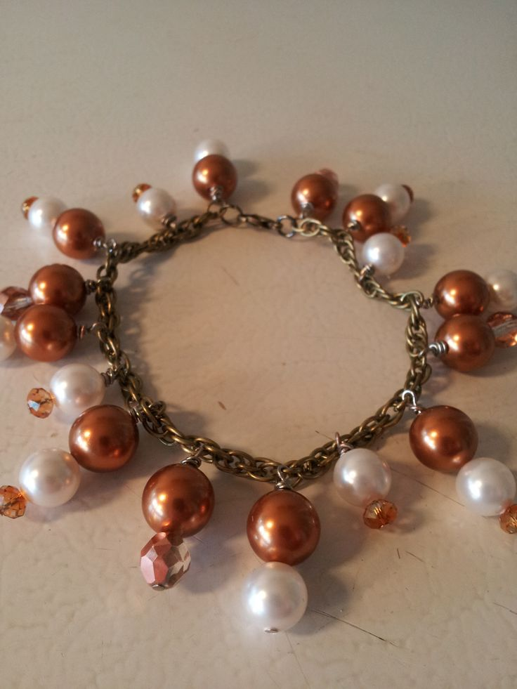A Swarovski crystal and pearl bracelet designed to accompany the necklace and earrings that have already been sold.