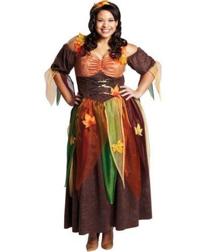 ROBE-COSTUME-ELFE-FEE-Sexy-Fee-de-foret-Fee-automne-de-style-Medieval